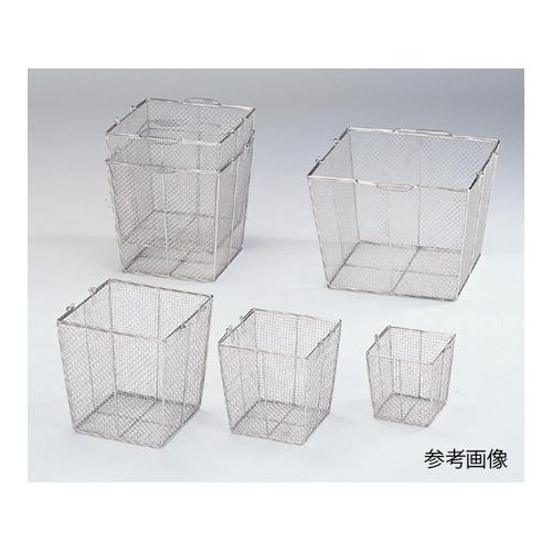 アズワン ステンレス角型洗浄カゴ(テーパ付き) 300角(240角)×300mm 1個 [7-5332-02]