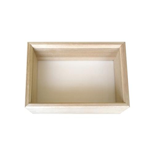 アズワン 桐製ガラスフタ式標本箱 小型 215×155×60mm 1箱 [3-9433-01]