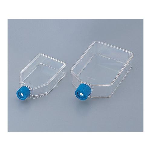 アズワン 組織培養用フラスコ(ベントキャップ/スラントネック) 25mL 1箱(10本×10袋入り) [1-8423-01]