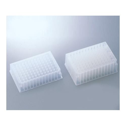 アズワン 96ディープウェルプレート 滅菌済 1.3mL 1箱(5枚×10袋入り) [1-9572-02]