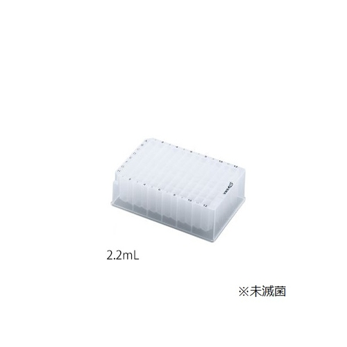 アズワン 96ウェル深型プレート 2.2mL 10個入 1袋(10個入り) [3-592-04]