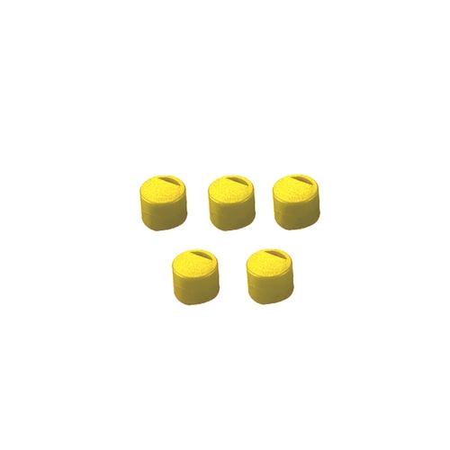 アズワン クライオチューブ用 キャップインサート(黄) 500本/袋×4袋入 1箱(500個×4袋入り) [3-6367-06]