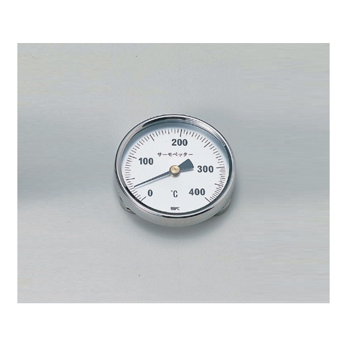 アズワン バイメタル温度計 サーモペッター 0~400 1個 [1-600-02]