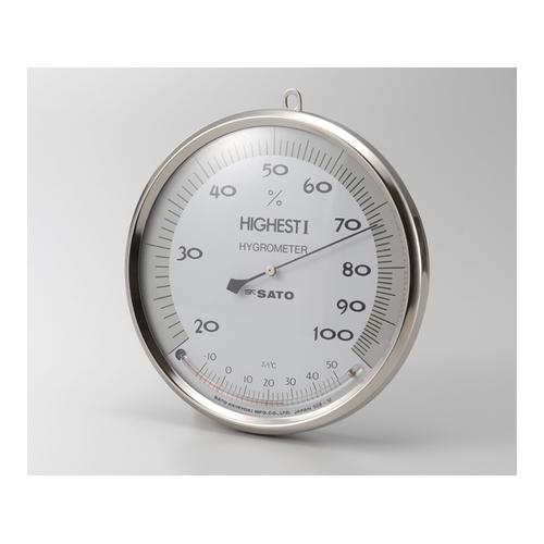 アズワン ハイエスト1型湿度計温度計付 150mm 1台 [1-626-01]