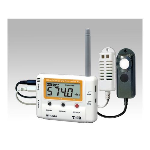 アズワン ワイヤレスデータロガー(子機)温度・湿度・照度・UV×各1ch 1台 [1-3529-01]