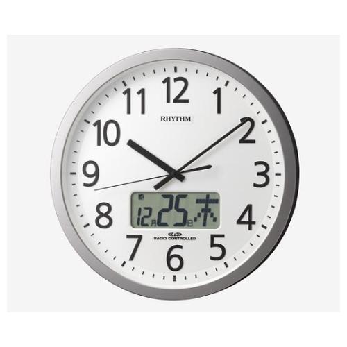 アズワン 電波時計(プログラムチャイム付き) φ350×60mm 4FN405SR19 1個 [8-5455-11]
