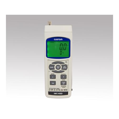 アズワン データロガー水質測定器(インテリジェントウォーターチェッカー) IWC-6SD本体 1個 [1-1933-01]