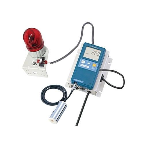 アズワン 酸欠警報ユニット センサー分離型 回転灯ケーブル付け(10m) 1台 [1-5391-14]