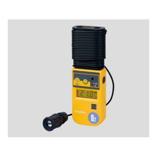 アズワン 酸素濃度計(投げ込み式) 10m(本体巻取式) バイブレーション付 校正証明書付 1台 [1-8752-07-20]