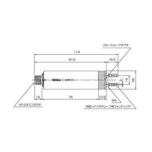 アズワン CO2濃度計 フロースルーアダプタ高濃度用 1個 [3-8801-12]
