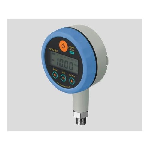 アズワン 高精度デジタル圧力計 DC24Vタイプ ブルー 1個 [1-3558-01]