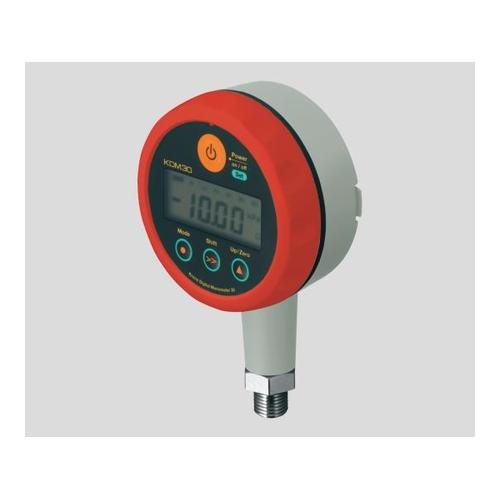 アズワン 高精度デジタル圧力計 レッド 校正証明書付 1台 [2-9205-02-20]