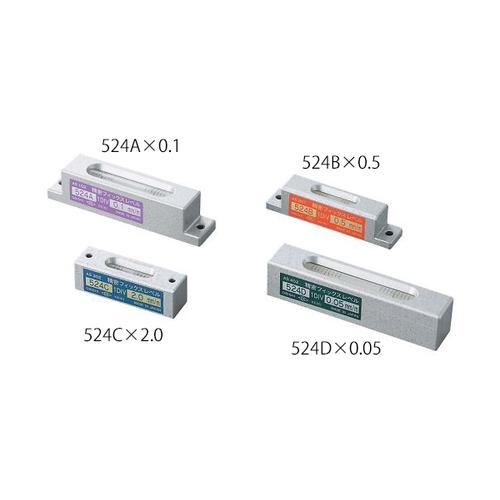 アズワン 水準器(精密フィックスレベル) 感度2mm/m 1個 [3-9325-04]