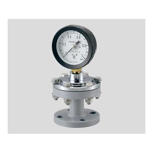 アズワン ダイヤフラム式圧力計(フランジタイプ) 75×1.0フッ素 1台 [2-276-03]