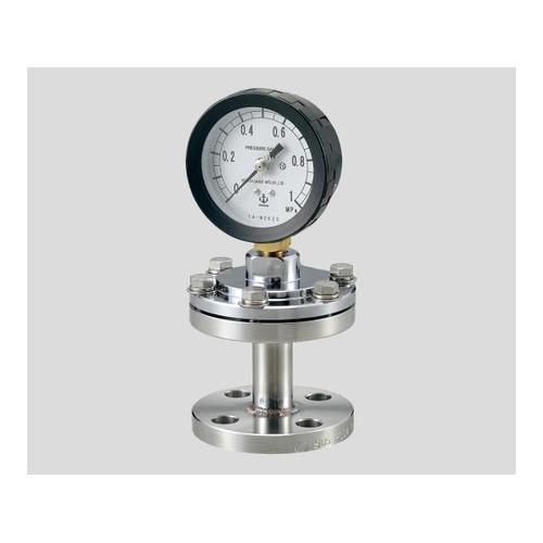 アズワン ダイヤフラム式圧力計(フランジタイプ) 75×1.0SUS 1台 [2-276-06]