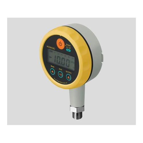 アズワン 高精度デジタル圧力計 006P(9V)乾電池タイプ イエロー 1台 [2-9204-02]