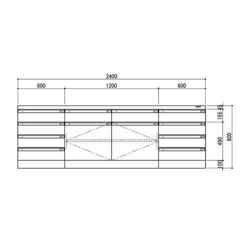 品質が アズワン ホワイト・木製タイプ [3-1280-12] サイド実験台 1台 2400×750×800 [個人宅配送][送料別途お見積り]:セミプロDIY店ファースト-DIY・工具