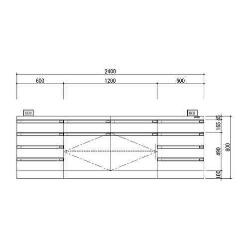 【SEAL限定商品】 アズワン 中央実験台 中央実験台 木製ホワイトタイプ 1台・ケコミ型 2400×1200×800 アズワン 1台 [3-3851-02] [個人宅配送][送料別途お見積り], magenta superbaby:e727abed --- briefundpost.de