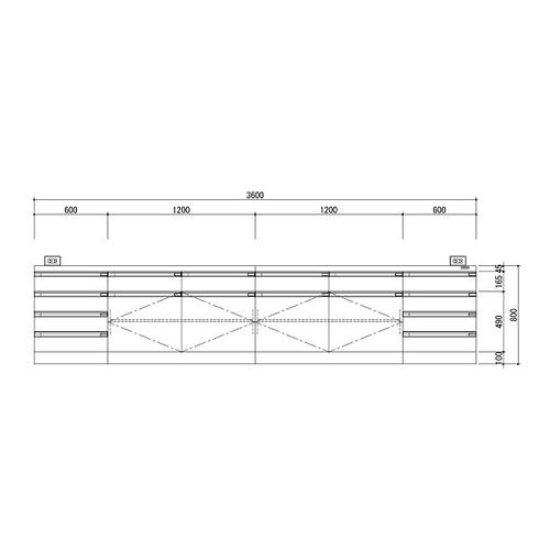 アズワン 中央実験台 木製ホワイトタイプ・ケコミ型 3600×1200×800 1台 [3-3851-04] [個人宅配送不可][送料別途お見積り]