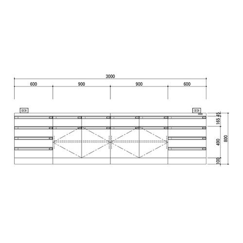 100 %品質保証 アズワン 中央実験台 木製ホワイトタイプ・ケコミ型 3000×1500×800 1台 [3-3852-03] [個人宅配送][送料別途お見積り], Ys factory ddfc597c