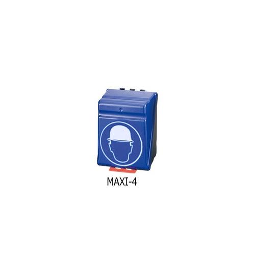 アズワン ヘルメット用安全保護用具保管ケース ブルー 1個 [3-7122-04]