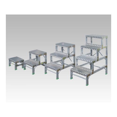 アズワン 作業用踏台(アルミ製・縞板タイプ) 2段 1台 [1-3641-02]