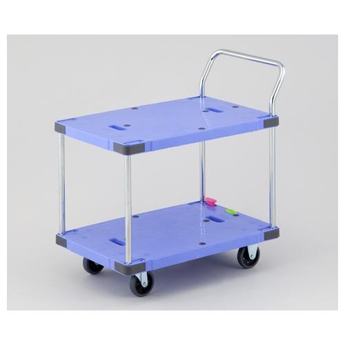 アズワン 静音樹脂運搬車 ボタンブレーキ付 1台 [1-5530-02]