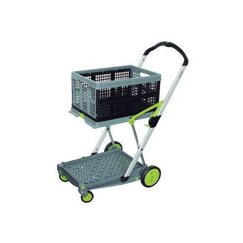 アズワン 折り畳みコンテナ付き2段台車(Clax Mobil Trolley) 1台 [3-8191-01]