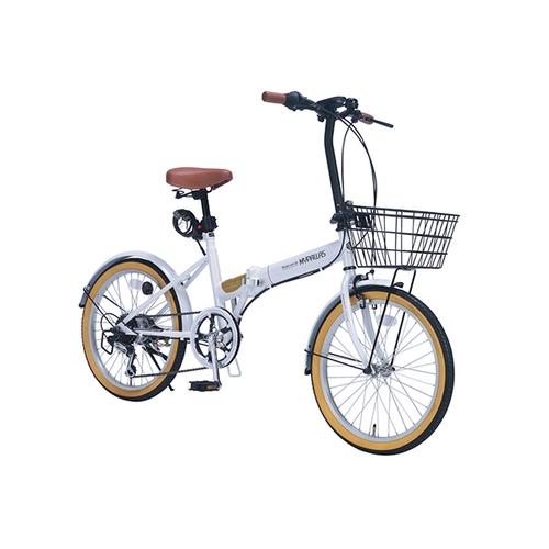 アズワン 折りたたみ自転車(オールインワン) ホワイト 1台 [3-9762-01]