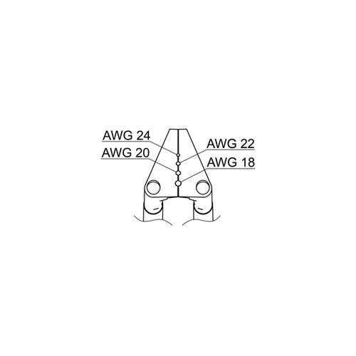 アズワン サーマルワイヤストリッパー用ベント型ブレード18-24AWG 1個 [1-2786-22]