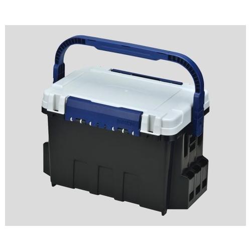 アズワン バケットマウス(座れる収納BOX) ブラック・オフホワイト 35L BM-9000 1個 [2-9182-01]