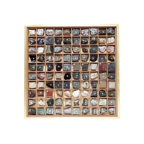 アズワン 岩石標本(岩石標本100種) 1セット [3-657-08]