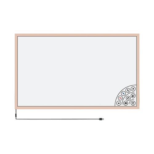 アズワン タッチフレーム 白板家 1062×615mm ピンクゴールド 1台 [3-8440-01]