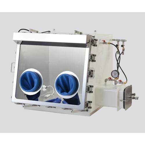 アズワン ガス置換型ステンレスグローブボックス 650×650×725mm 1台 [3-3013-13] [個人宅配送不可][送料別途お見積り]