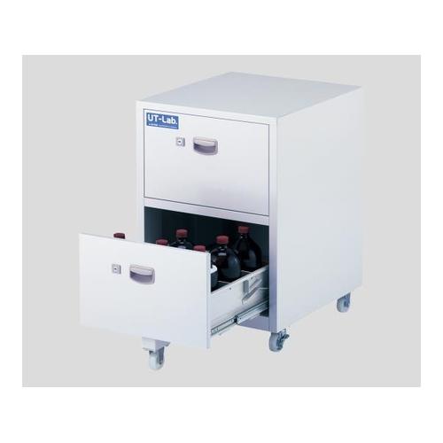 アズワン 薬品保管ユニット(UT-Lab.・キャスター付き) 450×500×652mm スチール製 1台 [2-709-02]