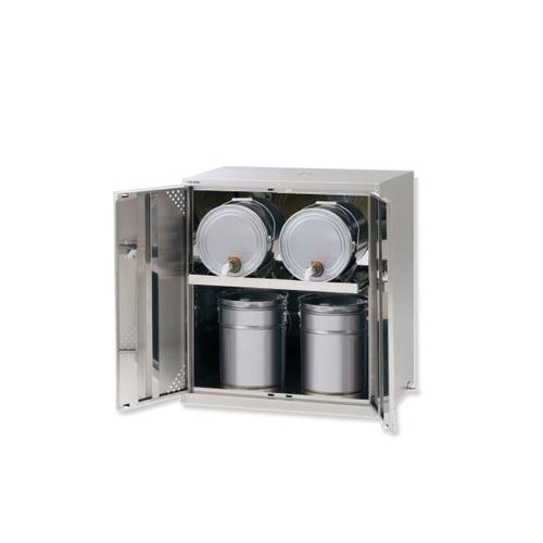 アズワン ラボサーバーラック(薬品保管庫・ペール缶用) ステンレス製 2列1段 1台 [2-674-02] [個人宅配送不可]