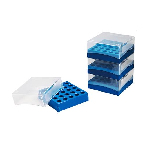 アズワン フリーザーボックス(5ml用) 133×133×51mm 25本収納 4個入 1箱(4個入り) [3-6197-01]