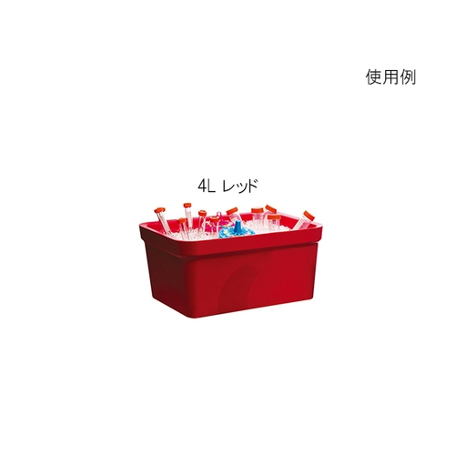 アズワン アイスパン Magic Touch 2(TM) 容量 4L レッド 1個 [3-6458-03]