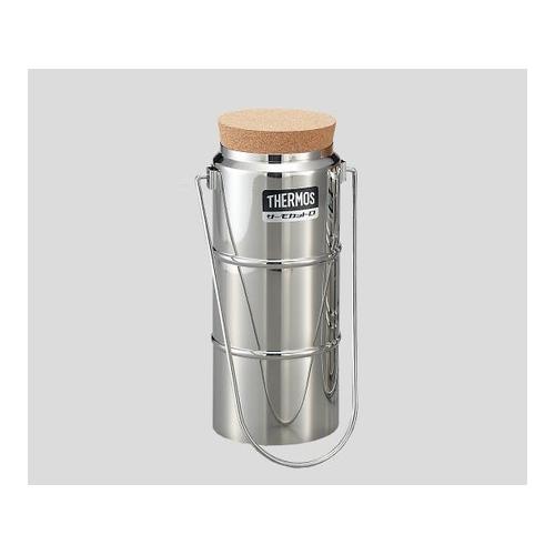 アズワン ステンレスデュワー瓶(2重構造) D-1001 栓付 1個 [5-240-11]