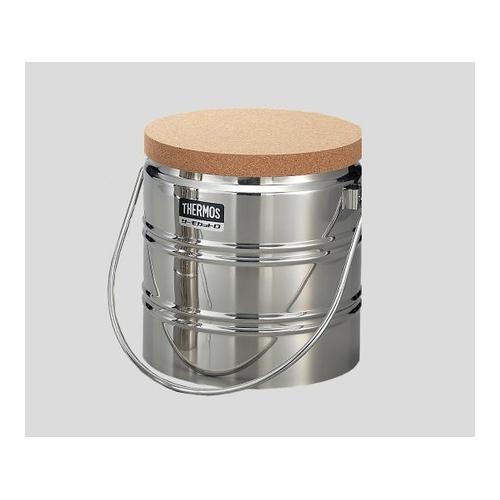 アズワン ステンレスデュワー瓶(2重構造) D-3001 栓付 1個 [5-243-11]