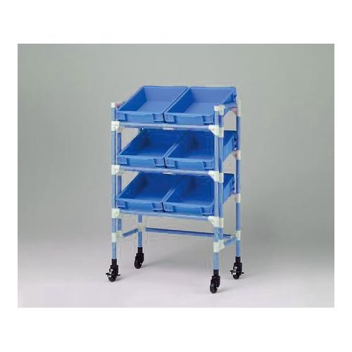 アズワン ポリテナーカート(抗菌・防カビFSイレクター(R)neo) ブルー 1台 [3-5293-12]