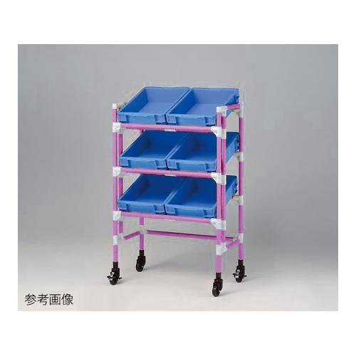アズワン ポリテナーカート(抗菌・防カビFSイレクター(R)neo) ピンク 1台 [3-5293-13]