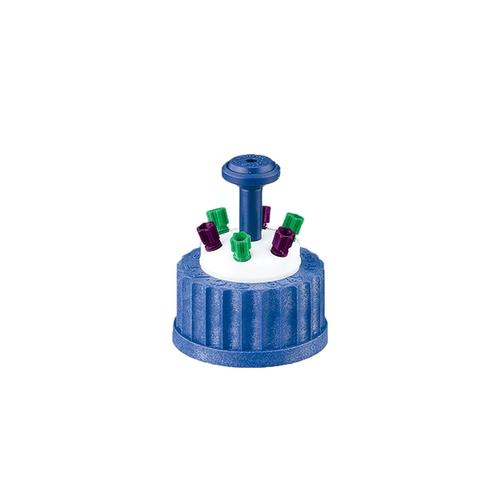 アズワン 安全キャップ(GL45ボトル用) 6ポート 1セット [1-1735-05]