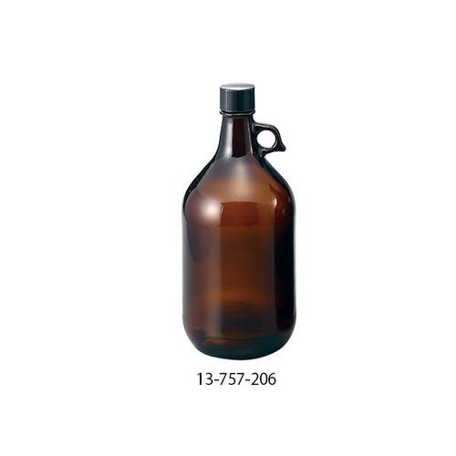アズワン アンバーガロン瓶 2365mL 6本入り 1箱(6本入り) [1-1843-13]