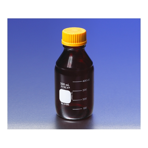 アズワン メディウム瓶(PYREX(R)オレンジキャップ付き) 遮光 2000mL 1本 [1-4993-07]
