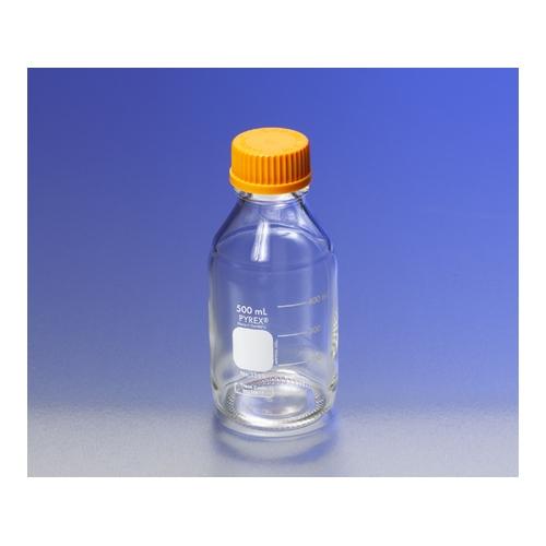 アズワン メディウム瓶(PYREX(R)オレンジキャップ付き) 透明 10000mL 1本 [1-4994-09]