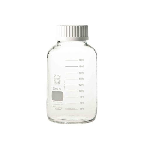 アズワン 広口ねじ口瓶 デュラン(R) 2000mL 1本 [1-2227-03]