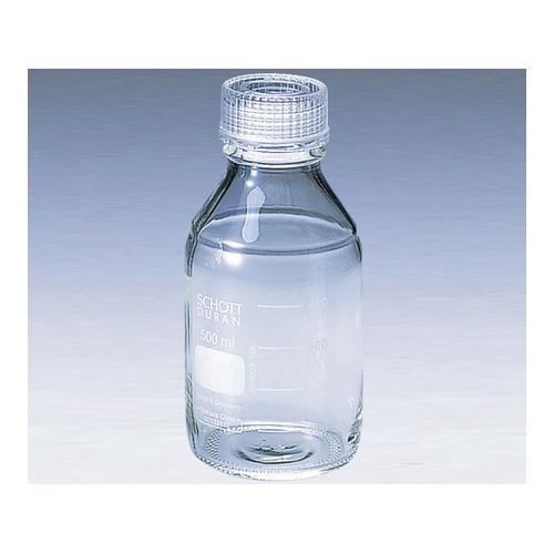 アズワン ねじ口瓶丸型白(デュラン(R)) 透明キャップ付 5000mL 1本 [2-035-07]