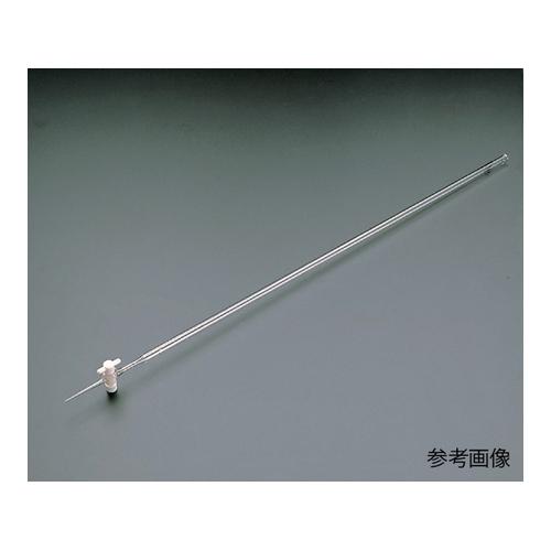 アズワン ビュレット硼珪酸ガラス製 PTFE活栓付 白 100mL 1本 [6-253-05]