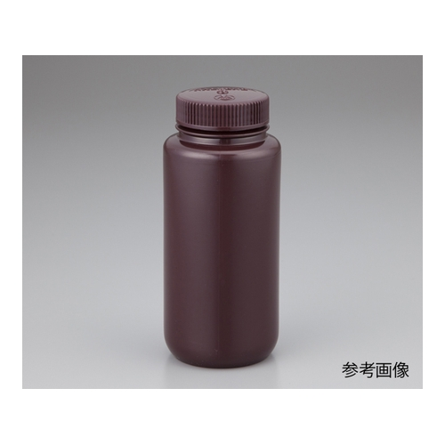 アズワン 広口試薬ボトル 褐色 125mL 1袋(12本入) 1箱(12袋入り) [1-2687-03]